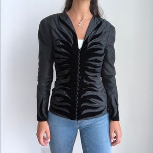 Vintage Murray Arbeid London Silk black blazer